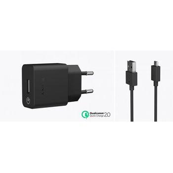 Sony USB rychlonabíječka s microUSB kabelem UCH10, černý