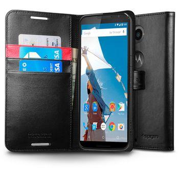 Spigen flipové pouzdro Wallet S pro Motorola Nexus 6, černá