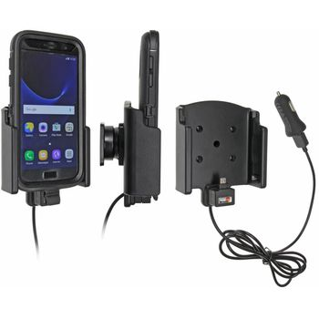 Brodit držák do auta na Samsung Galaxy S7 v pouzdru Otterbox Defender, s nabíjením z CL/USB