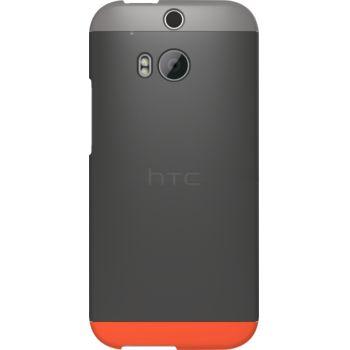 HTC pouzdro Double Dip Hard Shell HC C940 pro HTC One (M8), šedo červené