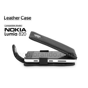Pouzdro kožené Brando Flip Top - Nokia Lumia 820