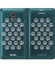 Samsung flipové pouzdro Moschino EF-WG900RB pro S5, Green + Silver