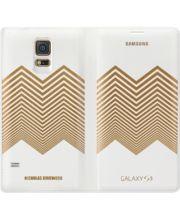 Samsung flipové pouzdro Nicholas Kirkwood EF-WG900RL pro S5, White+ Gold