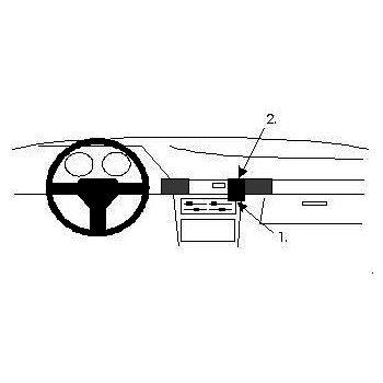 Brodit ProClip montážní konzole pro Mazda 323 90-94, na střed