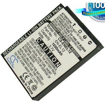 Baterie (ekv. EN-EL12) pro Nikon S610, S610c, S620, S630, S710, Li-ion 3,7V 1050mAh