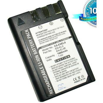 Baterie (ekv. EN-EL9) pro Nikon D40, D40x, D60, D3000, D5000, Li-ion 7,4V 1000mAh