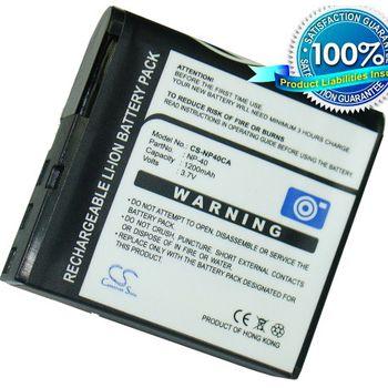 Baterie (ekv. NP-40) pro Casio Exilim EX-Z30, Z50, Z55, Benq DC DCP500, Li-ion 3,7V 950mAh