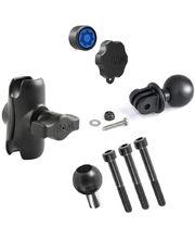 RAM Mounts adaptér pro outdoorové kamery GoPro Hero s krátkým ramenem se zabezpečením a s úchytem na motorku na řídítka místo šroubu M8, sestava RAM-B-186-GOP1-KNOB3-AU