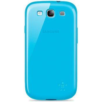 Belkin TPU pouzdro Grip Sheer pro Samsung Galaxy S III, modré (F8M398cwC03)