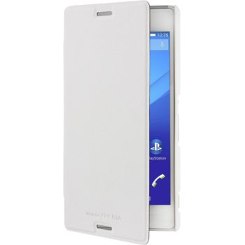 Roxfit flipové pouzdro pro Sony Xperia M4 Aqua, bílé