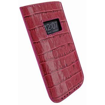 Piel Frama pouzdro pro iPhone 5 Pull Case, Crocodile Fuchsia