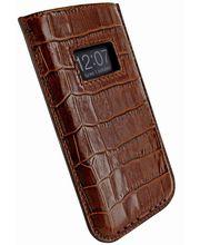 Piel Frama pouzdro pro iPhone 5 Pull Case, Crocodile Brown