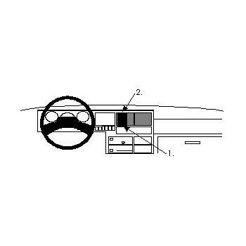 Brodit ProClip montážní konzole pro Volkswagen Caravelle 91-95, na střed
