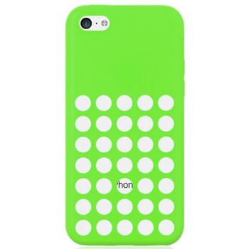 Brando zadní kryt Hole Silicone pro iPhone 5C, zelená