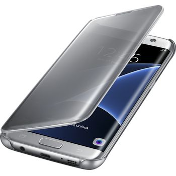 Samsung flipové pouzdro Clear View EF-ZG935CS pro Galaxy S7 edge, stříbrné