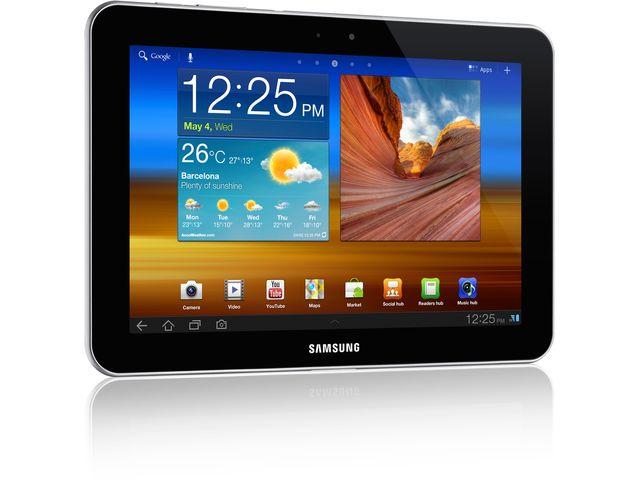 "obsah balení Samsung Galaxy Tab 7300 32GB Wi-Fi + 3G 8.9 bílá + černé ochranné pouzdro se stojánkem Belkin pro Galaxy Tab 8,9"""