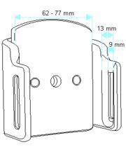 Brodit držák do auta na mobilní telefon nastavitelný, bez nabíjení, š. 62-77 mm, tl. 9-13 mm