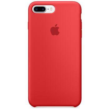 Apple silikonový kryt pro iPhone 7 Plus, čevený
