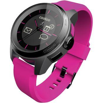 Cookoo watch - Bluetooth 4.0 hodinky pro iOS černo-růžové