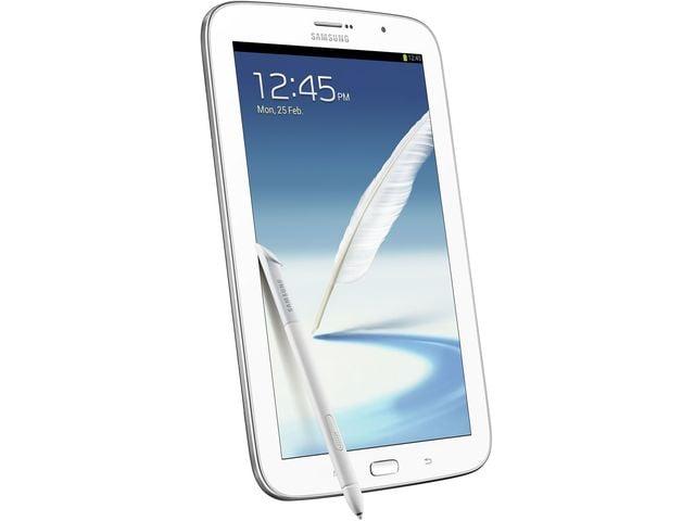 obsah balení Samsung GALAXY Note 8.0 Wi-Fi + 3G, bílý + originální polohovací pouzdro Samsung, červené
