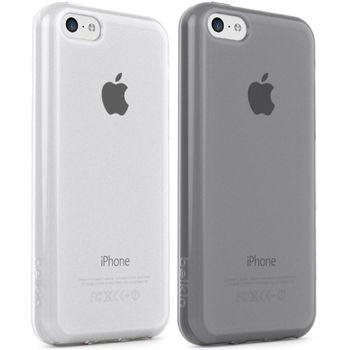 Belkin sada 2ks TPU pouzder pro Apple iPhone 5C, černá a transparentní