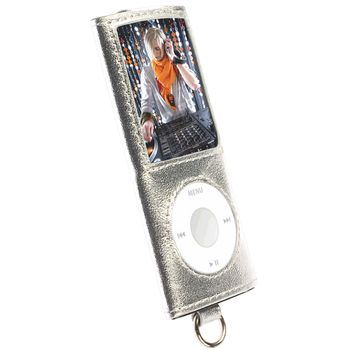 Krusell pouzdro Encore - Apple iPod Nano 4G - stříbrná