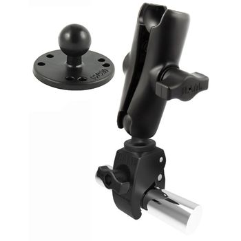 RAM Mounts sestava s kruh. adapt. s velkou svěrkou s ručním upínáním pro Ø  25,4 - 57,15 mm, RAM-B-401-202U