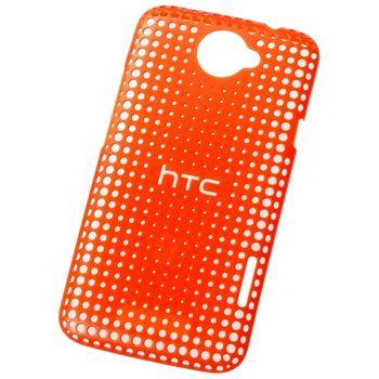 HTC pouzdro děrované Hard Shell HC-C704 pro HTC One X, oranžové