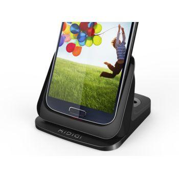 Kidigi UltraThin dobíjecí a synch. kolébka pro Samsung Galaxy S4 se slotem pro druhou baterii, černá