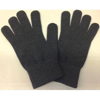 Zimní rukavice pro kapacitní displeje, bavlněné, panské - černá