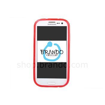 Pouzdro plastové Brando s vlnitým vzorem - Samsung Galaxy S III i9300 (černá)