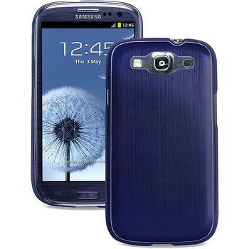 PURO pevný kryt Metal Cover pro Samsung Galaxy S III - modrý