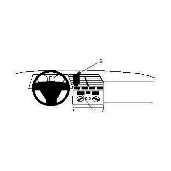 Brodit ProClip montážní konzole pro Alfa Romeo 164 91-98, na střed