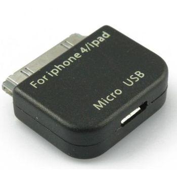 Adaptér s redukcí Micro 5-Pin pro iPad/iPhone - černá