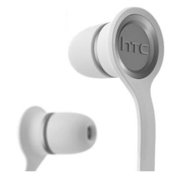 HTC Headset Stereo RC-E190, plochý kabel, bílý
