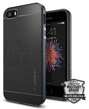 Spigen pouzdro Neo Hybrid pro iPhone SE/5s/5, břidlicová