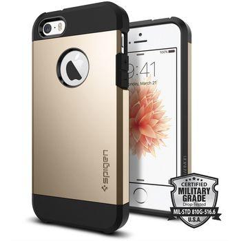 Spigen pouzdro Tough Armor pro iPhone SE/5s/5, zlatá