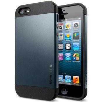 Spigen pevné pouzdro Slim Armor pro iPhone 5/5S, černé