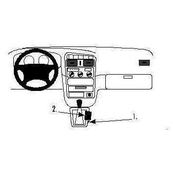 Brodit ProClip montážní konzole pro Toyota Avensis 98-02, na středový tunel