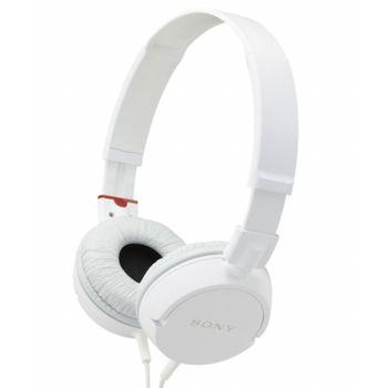 Sony uzavřená sluchátka MDR-ZX100 - bílá