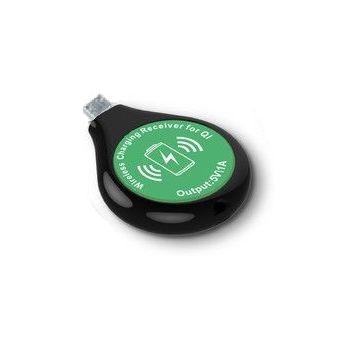 Bezdrátový nabíjecí adaptér do microUSB, černo/zelený
