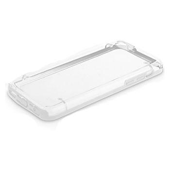 Brando zadní transparentní kryt s gumovým lemováním pro iPhone 5C, bílá