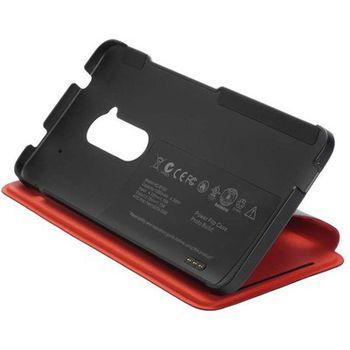HTC flipové pouzdro s vestavěnou baterií Power Flip Case HC B100 pro HTC One max, 1200mAh, černé