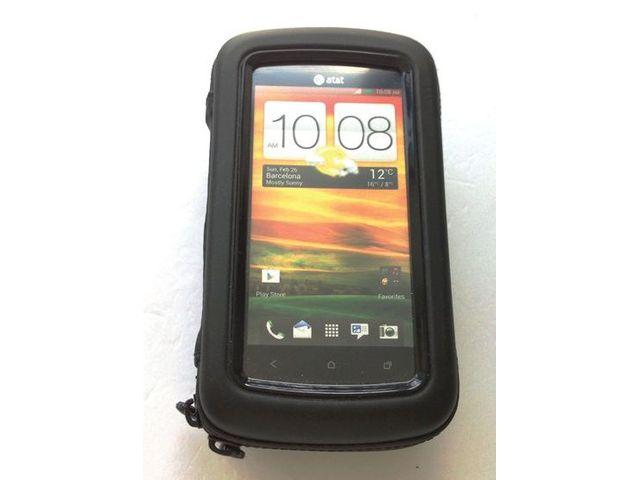 """obsah balení Držák BikeConsole univerzální na kolo nebo motorku na řídítka pro uchycení telefonu, max 4,8"""" + microusb síťová nabíječka"""