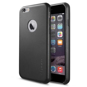 Spigen ochranný kryt Leather Fit pro iPhone 6, černá
