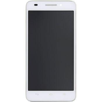 Náhradní díl Huawei Ascend G620s LCD Display + dotyková deska + přední kryt bílá
