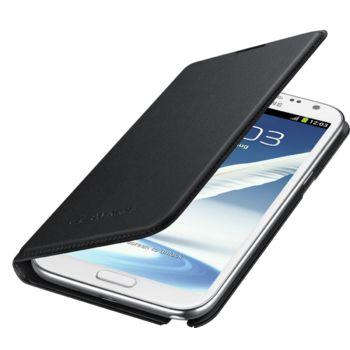 Samsung flipové pouzdro s kapsou EF-NN710BB pro Galaxy Note II, černé