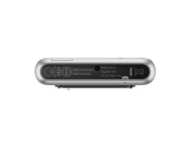 obsah balení Nokia N8 Silver White + fólie Brando