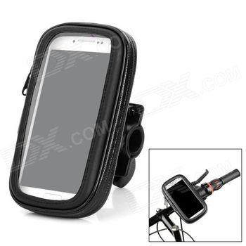 """Držák na telefon do velikosti dipleje 4"""" na řídítka, voděodolný, černý"""
