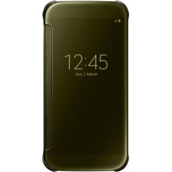 Samsung flipové pouzdro Clear View EF-ZG920BF pro Galaxy S6, zlatá